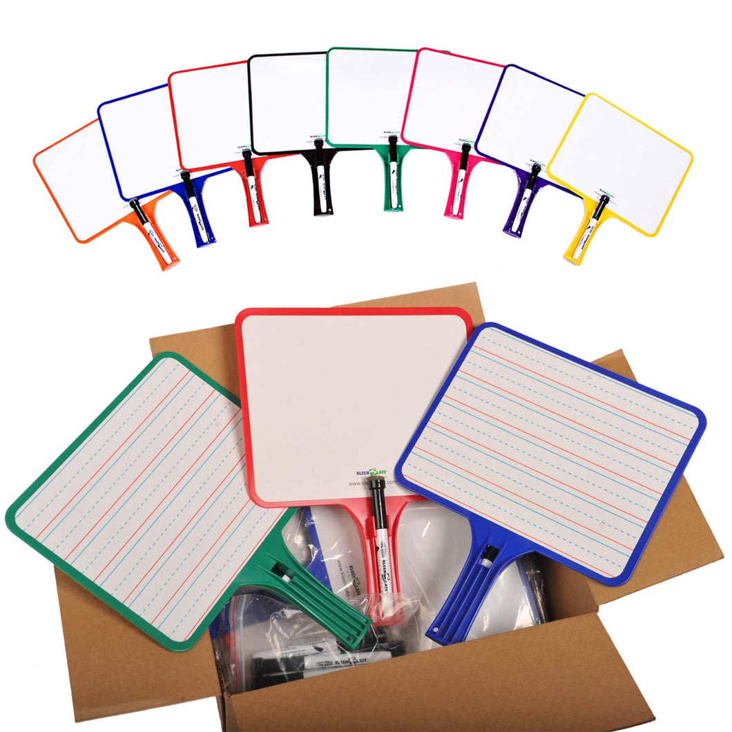 (24) KleenSlate Hand-Held Whiteboards (BLANK & LINED Surface)