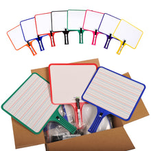 Load image into Gallery viewer, (12) KleenSlate Hand-Held Whiteboards (BLANK & LINED Surface)