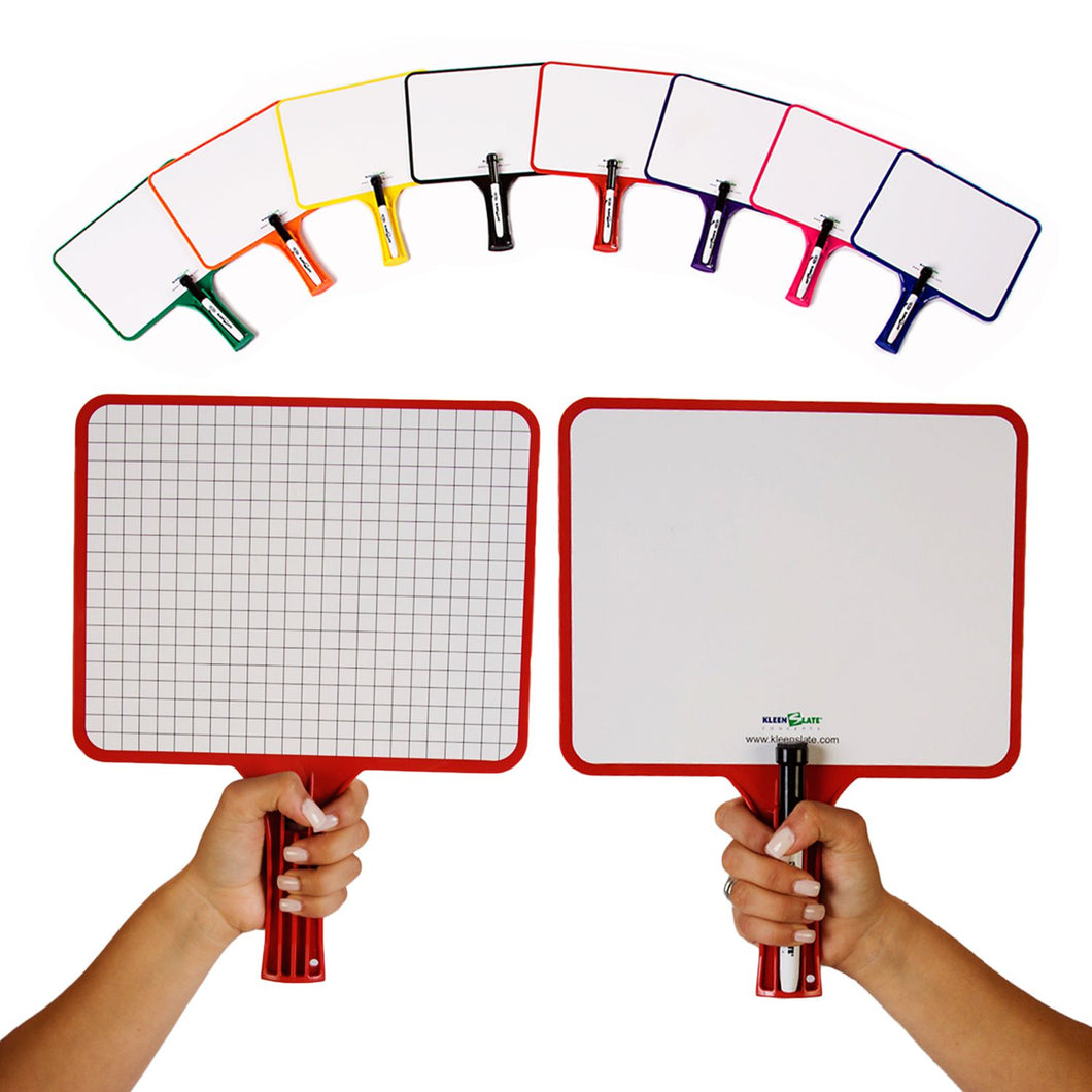 (24) KleenSlate Hand-Held Whiteboards (BLANK & GRAPH Surface)