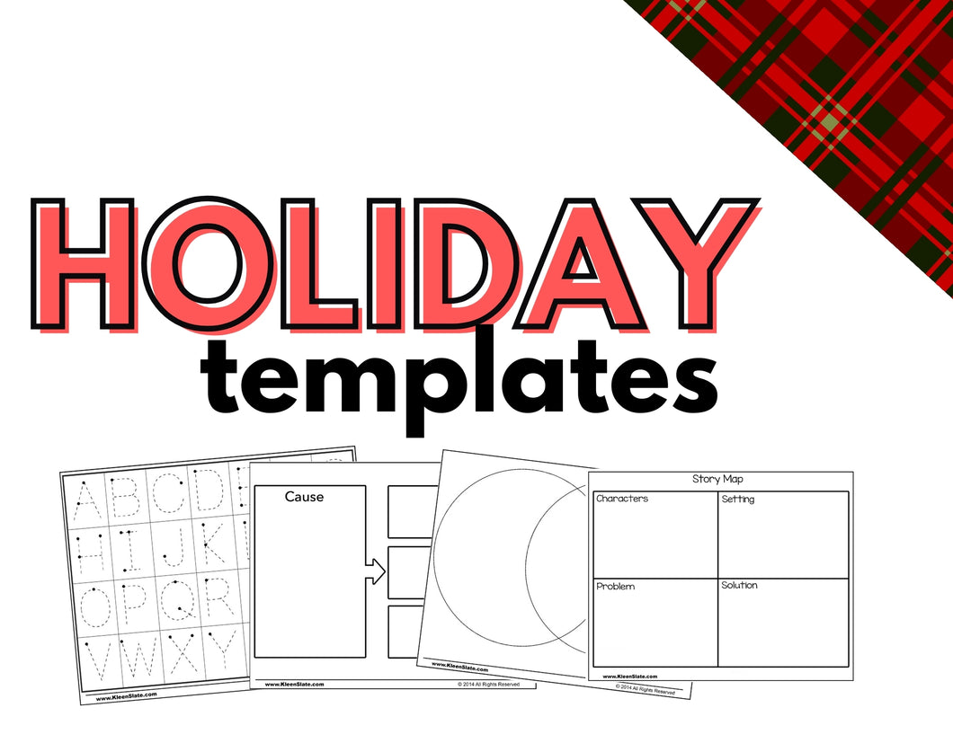 13 Holiday Templates (K-8)