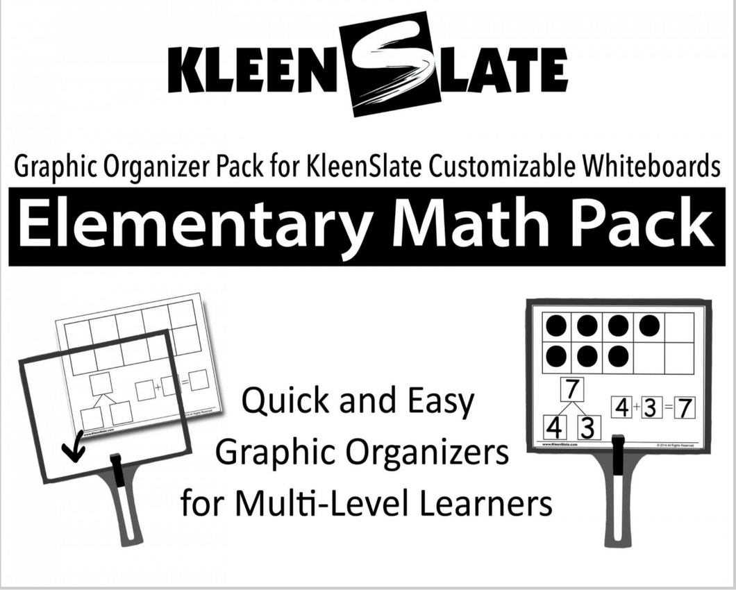 Elementary Math Template Book