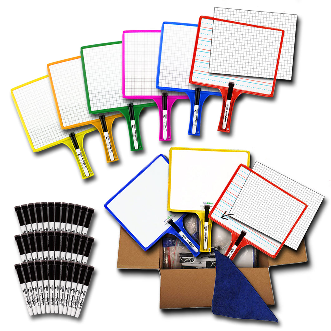 (36) Customizable Whiteboards with Dry Erase Sleeves