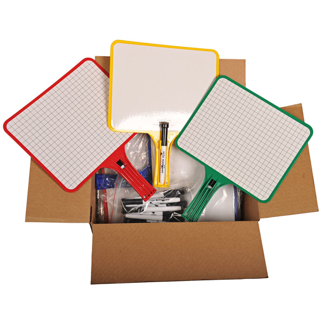 (12) KleenSlate Hand-Held Whiteboards (BLANK & GRAPH Surface)