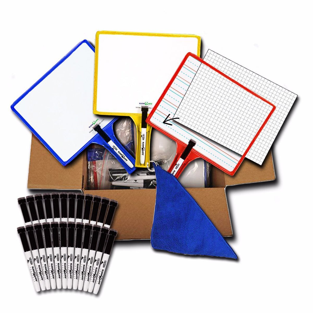 (24) Customizable Whiteboards with Dry Erase Sleeves