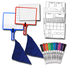 Load image into Gallery viewer, Home School Paddle Kit - (2) Customizable Whiteboards w/ markers + BONUS (1) 10-Pack of Color Markers