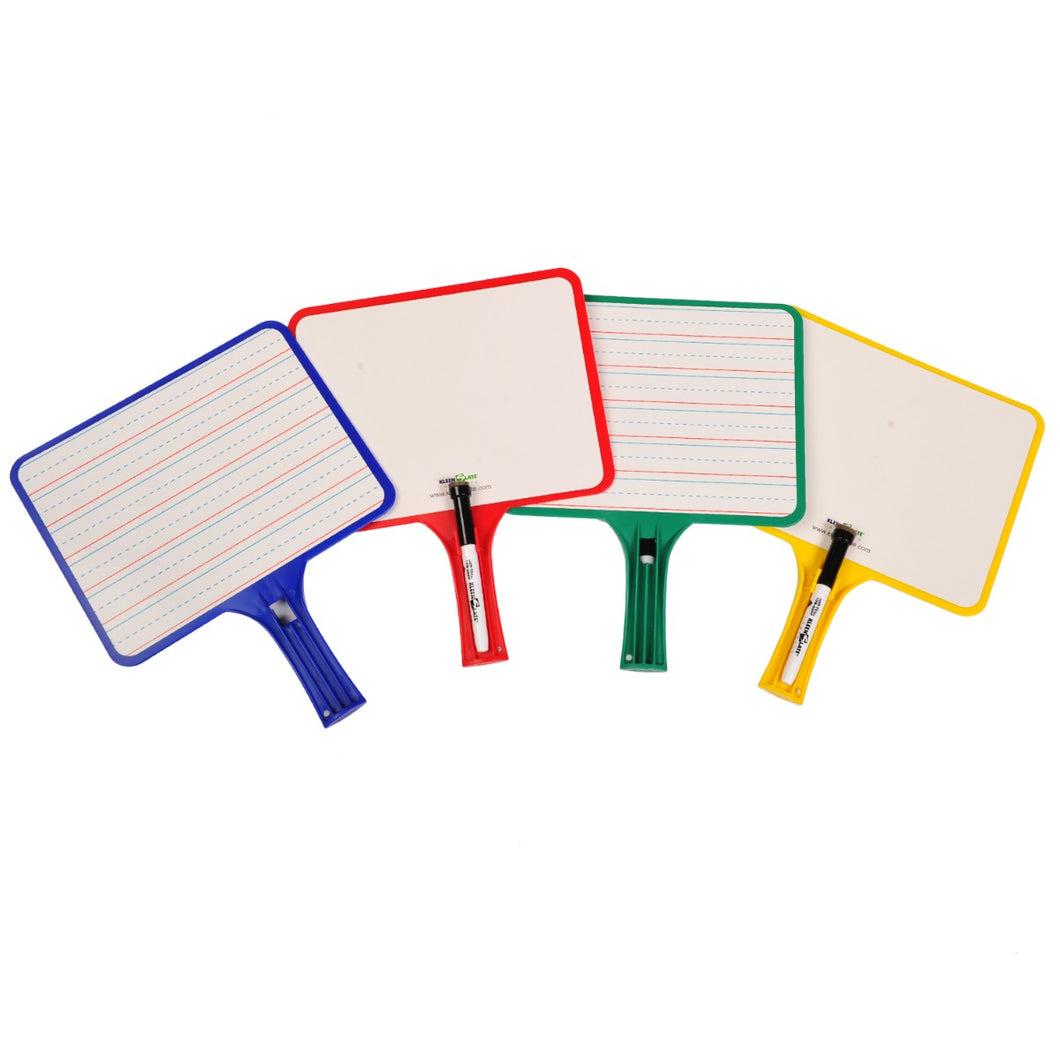(12) KleenSlate Hand-Held Whiteboards (BLANK & LINED Surface)