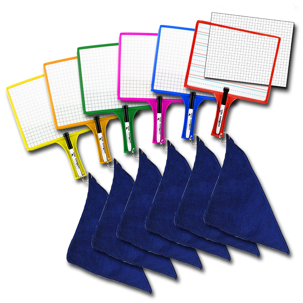 (6) Customizable Whiteboards with Dry Erase Sleeves