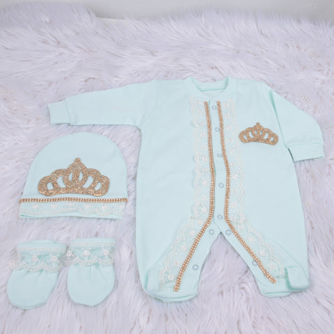 3 Pieces Princess Set Mint Gold