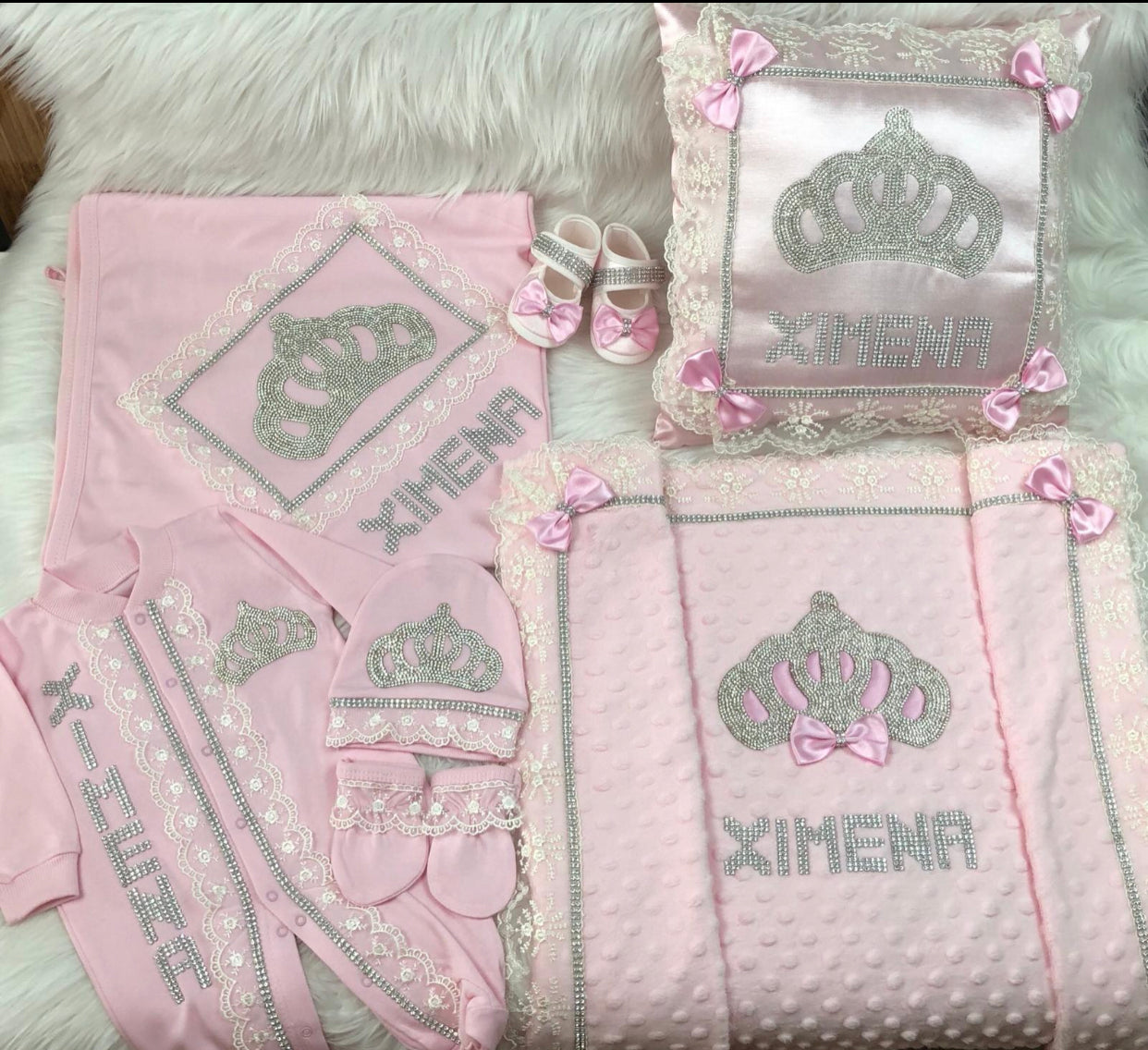 7 Pieces Princess Set Pink