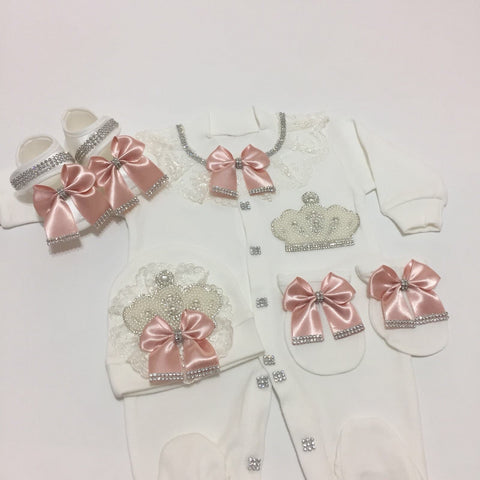 4 Pieces Princess Pearls Blush