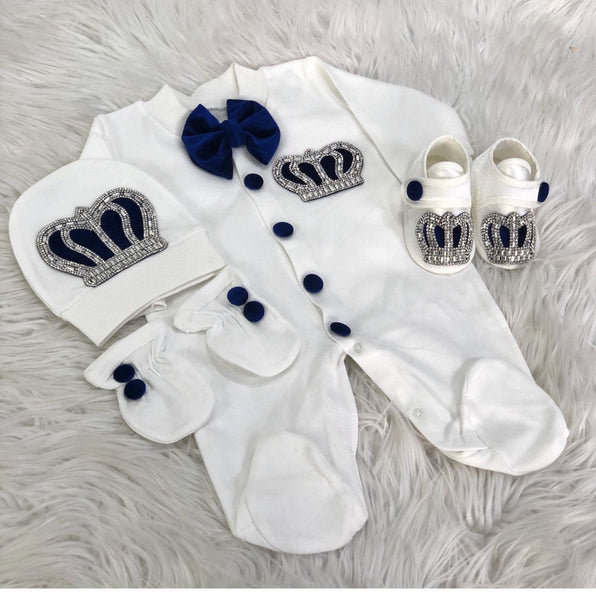 4 Pieces Prince Set Velvet Navy
