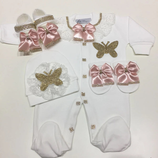 4 Pieces Princess Set Butterfly Gold