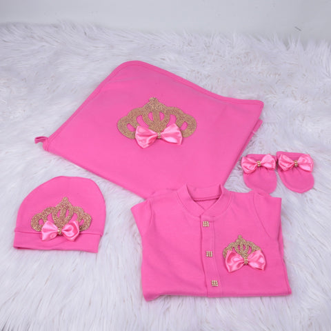 4 Pieces Prince Set Fuschia
