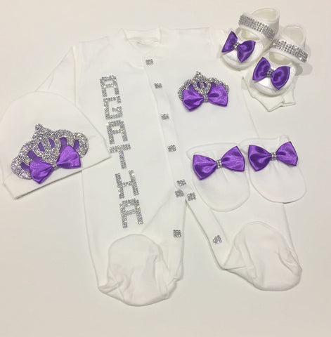 4 Pieces Princess Purple