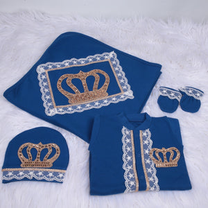 4 Pieces Prince Set Royal Blue Gold