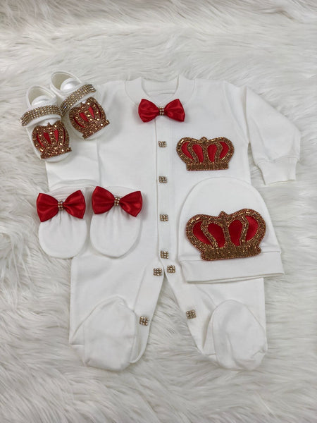 4 Pieces Prince Set Red