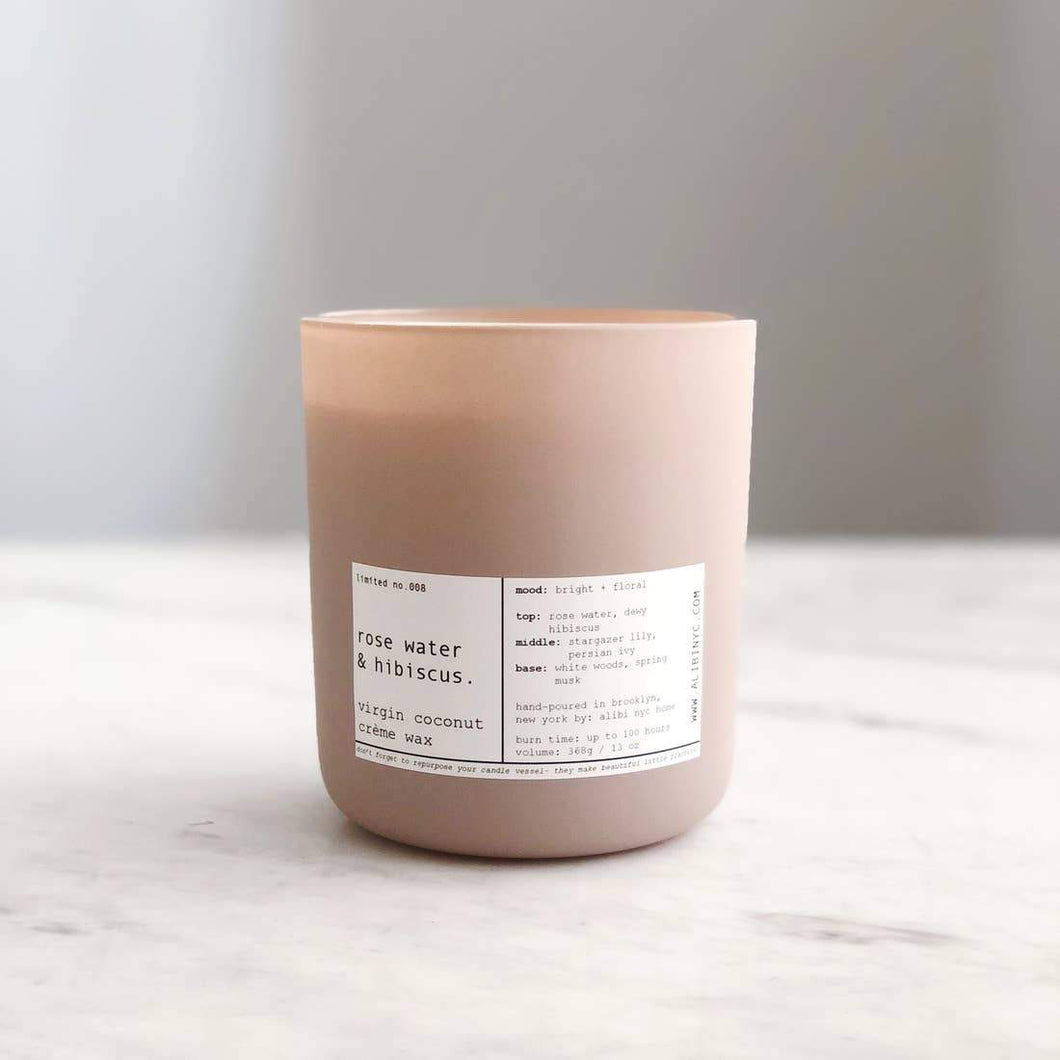 ROSE WATER & HIBISCUS | VIRGIN COCONUT CRÈME CANDLE