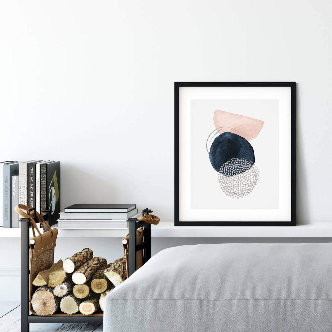 Abstract Geometric Watercolor Art