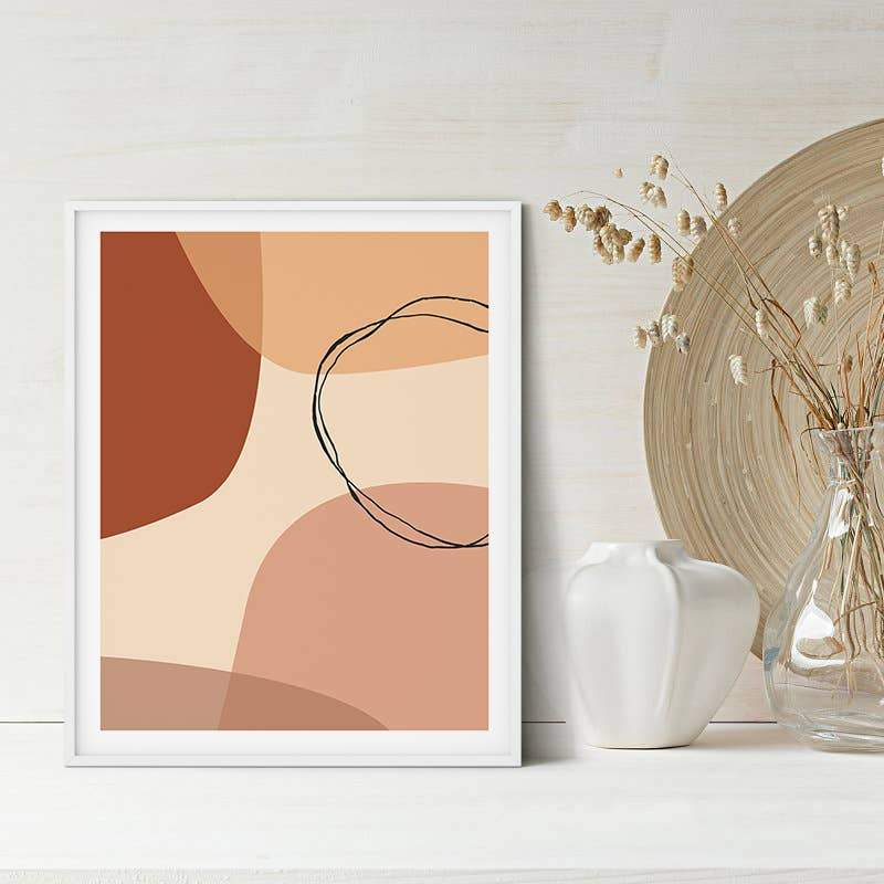 Abstarct Geometric Wall Art | Boho Modern Print
