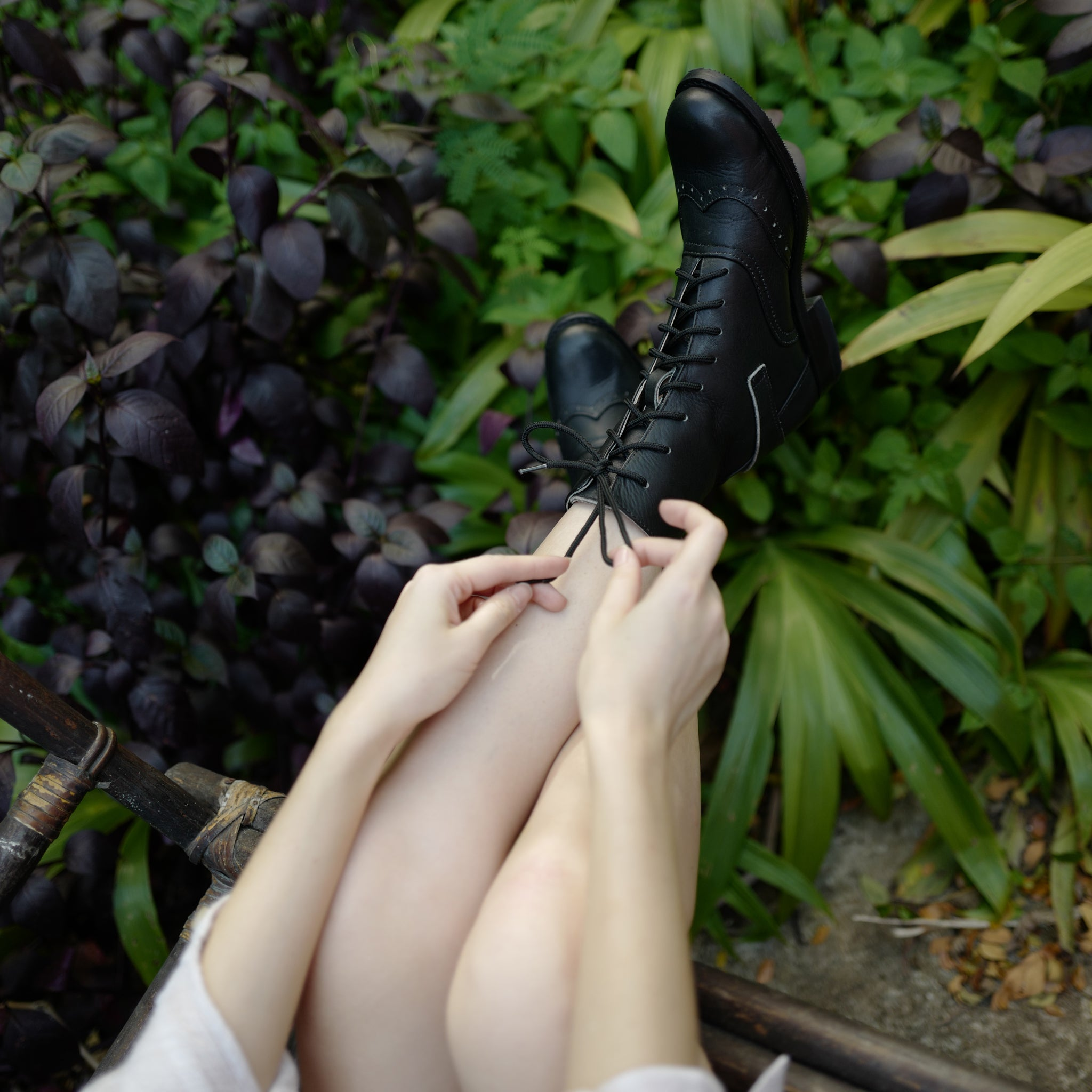 Black Leather Victorian Boots