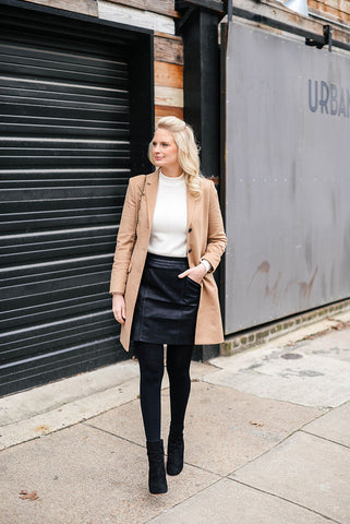 The Long Coat and Short Skirt