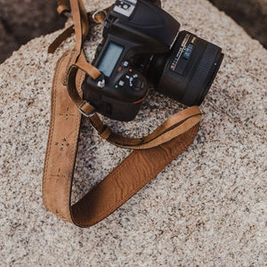 Light Brown Leather Camera Strap - Atitlan Leather