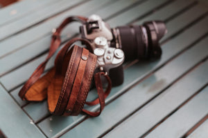 Brown Leather Camera Strap - Atitlan Leather