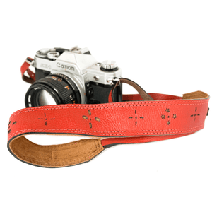 Red Camera Strap - Atitlan Leather