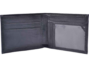 Atitlan Leather Wallets Duna Black Leather Leather Bifold Wallet with ID Window