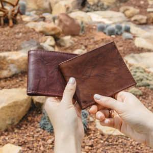 Leather Bifold Wallet with ID Window - Atitlan Leather
