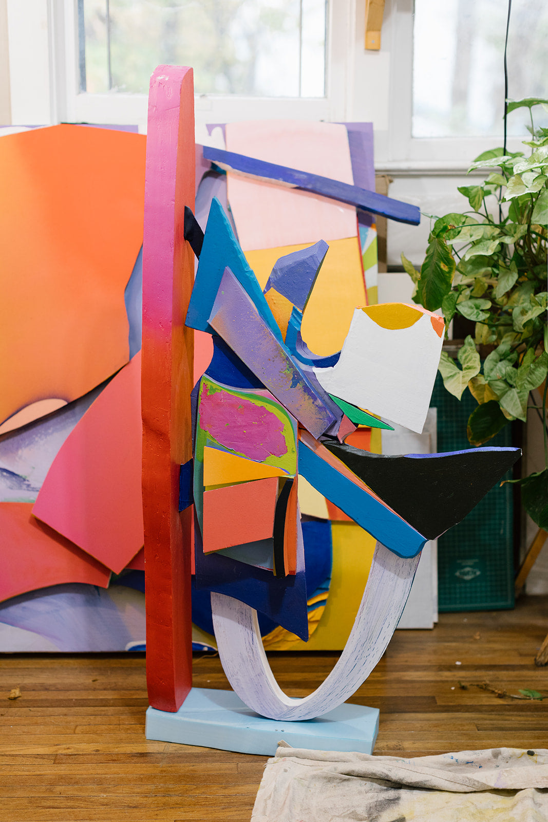 Photograph of a colorful sculpture