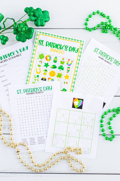 St. Patrick's Day Printable Game and Activity Bundle