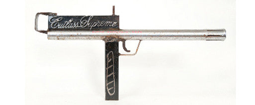 Post-Auto-Bailout Uzi (2009) - representational gun sculpture by Linus Coraggio