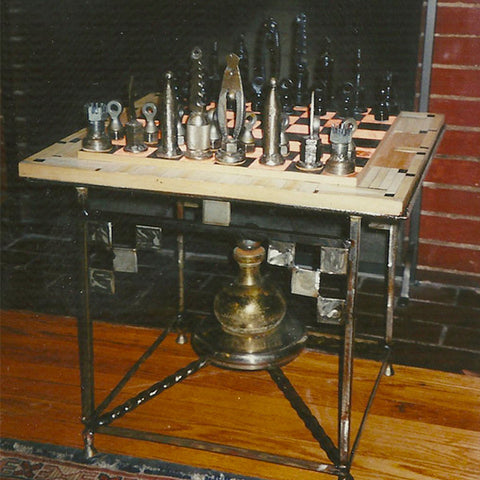 """Ebony & Rubber"" Chess Set"