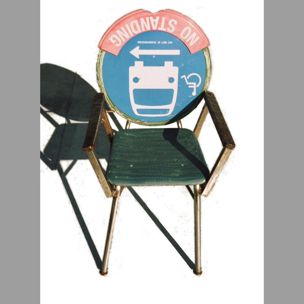 """No-Standing Bus Stop Arm Rester"" Chair"