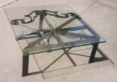 Square Flag Coffee Table (2006) - furniture by Linus Coraggio