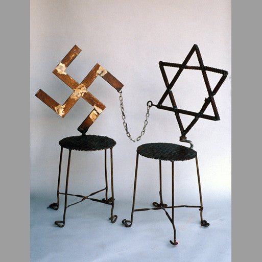"""The Memory (Swastika and Jewish Star)"" Chairs (Set of 2)"
