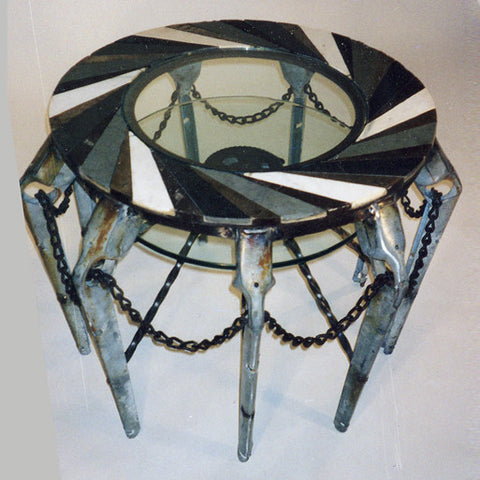 """Three-Stone Round"" Coffee Table"