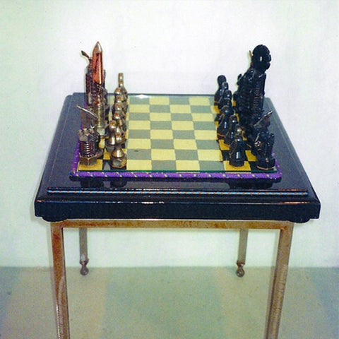 """White Copper and Black Sun Queen"" Chess Set"