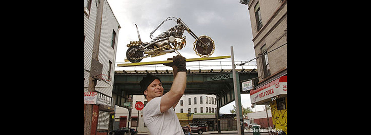 motorcycle sculptures