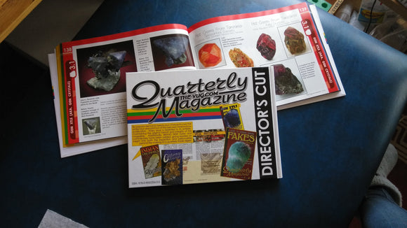 Do you like Crystals and Minerals?  You NEED this BOOK! - The-Vug Director's Cut - Mineral Magazine with Easy to Read Articles  Moving Sale