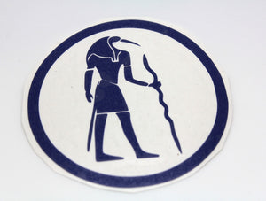 3.75 Inch Thoth Egyptian God of Wisdom - Shake off that writer's block! Blue or Black Sticks on Laptop, Car Window, Household Inspiration