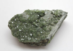 JZ's Rock of the Day 3/365 -Green Andradite Garnet Crystal Plate California Green Fire Mine 2.25 inch across - Sharp Crystals Great Green!
