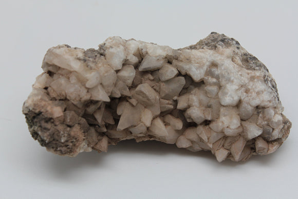 JZ's Rock of the Day 1/365 - Calcite Crystal Cluster from a secret little canyon in the Cady Mountains California - Dogtooth Crystals 5 inch