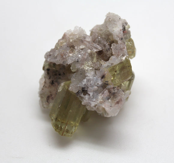 JZ's Rock of the Day 4/365 - Yellow Apatite Crystals in Matrix from Mexico - Classic Mineral Specimen with Terminated Crystals