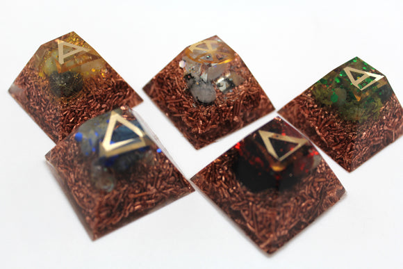 Elemental Alchemy Set: The Five Elements  Ayurveda Healing Tools - Earth, Fire, Water, Air and Ether - Copper Bottoms, Smooth for Body Work