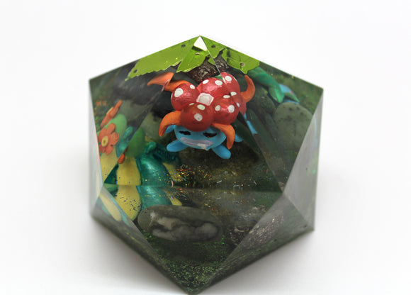 Oddish Gloom Bellossom Evolution Gem - Biome Landscape Geodome Super Fun Desktop Decoration - Pokemon Gen 1 Grass/Poison Pokes Epidote