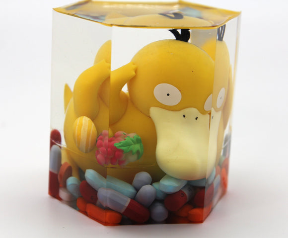Misty's Poor Chubby Psyduck!  He has a Headache that just will not go away! Pokemon Water/Psychic Gen1 Favorite and PILLS!  Fun Desktop Gift