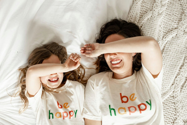 POLISHED PRINTS BE HAPPY KIDS TEE'S