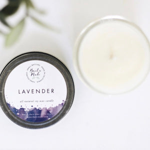 Baitx Made Lavender 4 oz Soy Wax Candle